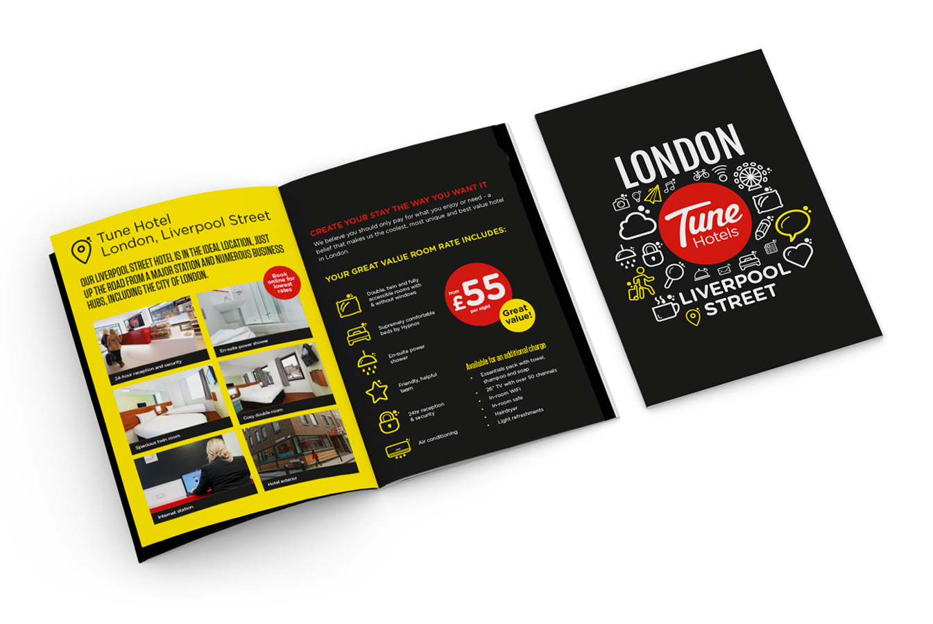 Theme Group   Budget hotel branding & brochures for Tune Hotels